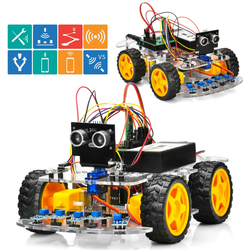 OSOYOO 4WD Robot Car Starter Kit V2 0 for Arduino UNO Smart Project APP Simulator driving