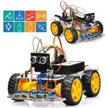 OSOYOO 4WD Robot Car Starter Kit V2.0 for Arduino UNO Smart Project APP Simulator driving STEM Toys Gifts for Kids Teens(China)