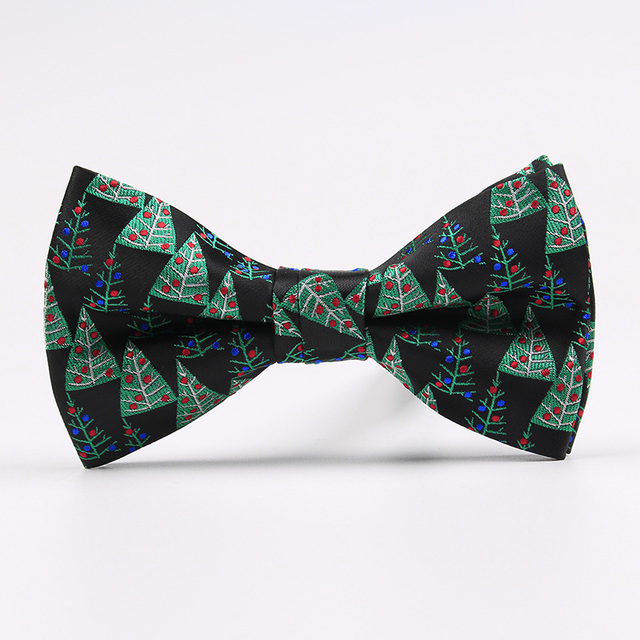 Party Christmas Funny Patterned Bow Tie For Men