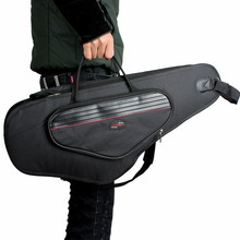 Professional Portable upscale thicker waterproof bend Alto Saxophone package bag gig case cover shoulder messenger free