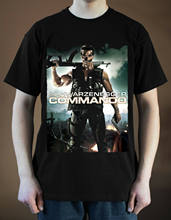 COMMANDO Poster do Filme ver. Arnold Schwarzenegger 2 T-Shirt (Preto) O-NeckComfortable S-5XL Mens Casual t shirt dos homens t-shirt(China)
