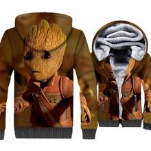 I am Groot Hoodies Super Hero Jackets 3D Hoodie Men Harajuku Sweatshirt Winter Thick Fleece Zipper Coat Cute Hipster Streetwear цена и фото