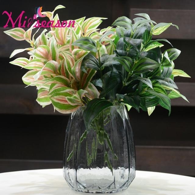 Miiseason 6 Branche Soie Plante Verte Bouquet Artificielle Sourcils