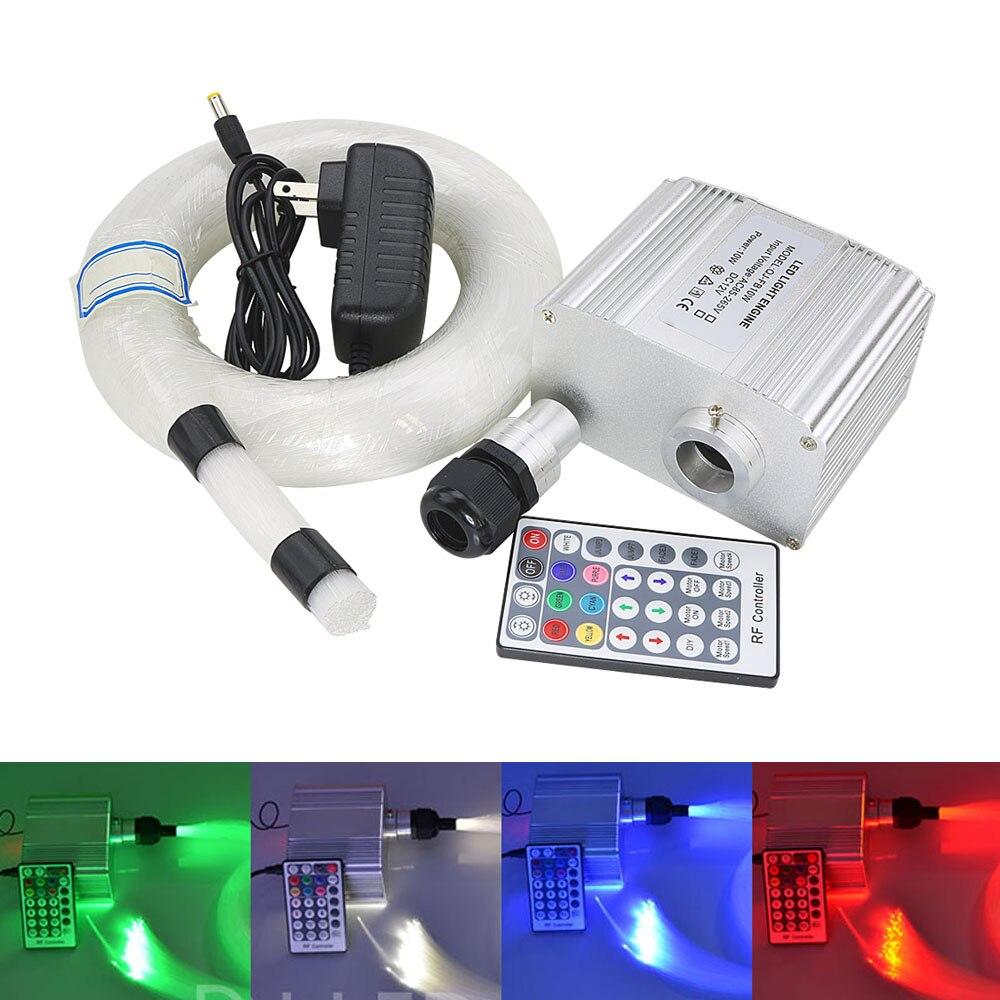 10 W scintillent RGBW LED Fiber optique étoile plafonniers Kit 0.75mm 150 pièces 2 m fibre optique lumière LED moteur withe 28Key RF à distance