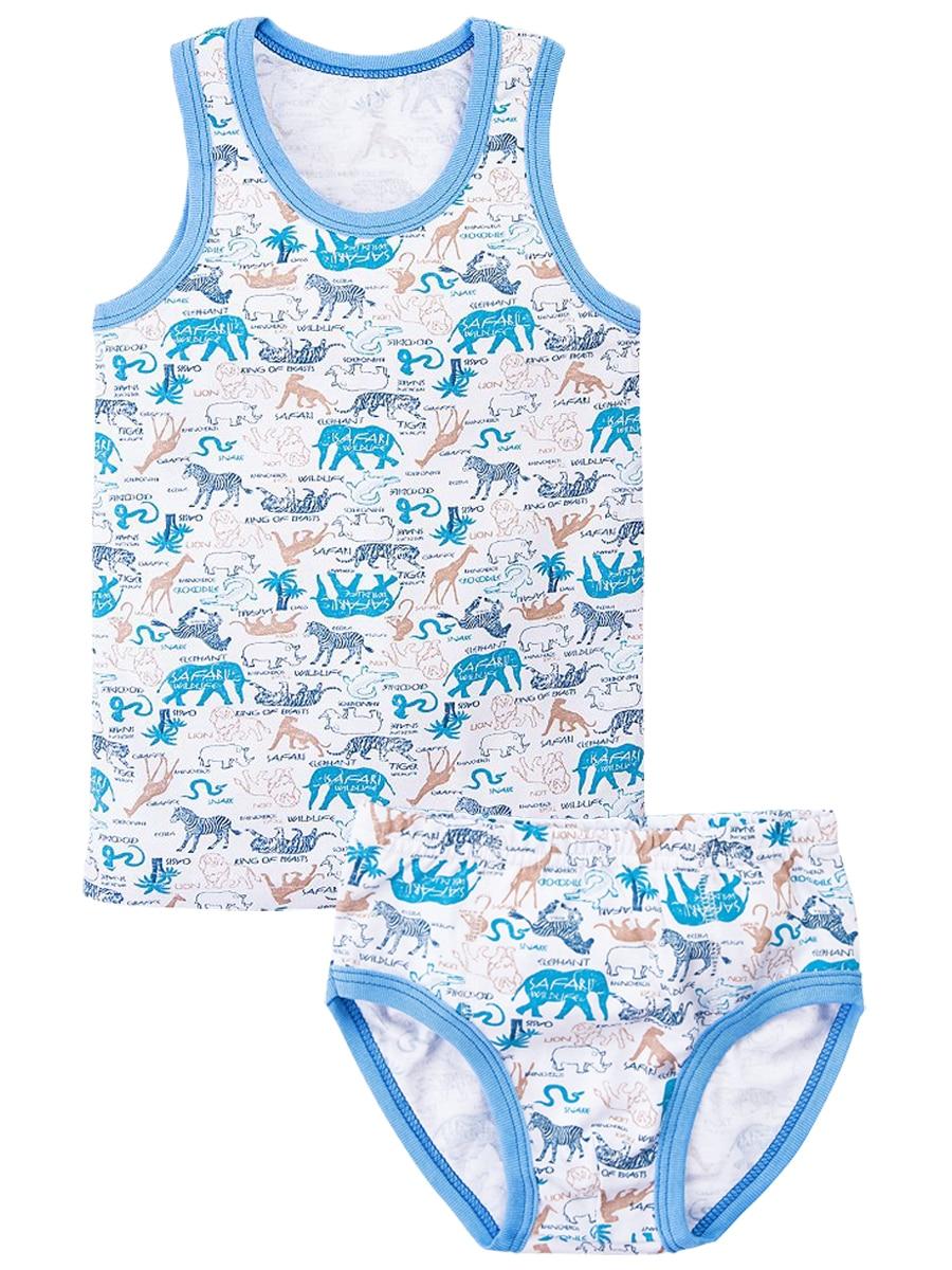 Children's Sets Veselyy malysh 5217-set-Safari children's clothing set shorts t-shirt underpants shirt for girls and boys