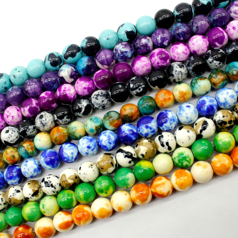 US $1 33 17% OFF|Wholesale A Variety Of Colors Natural Stone Beads For  Jewelry Making Yourself Bracelet Material 4 / 6 / 8 / 10 / mm-in Beads from