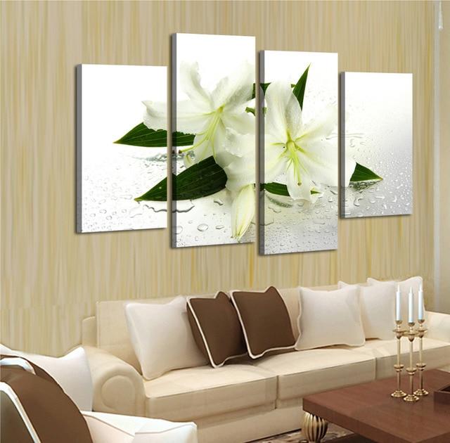 Moderne Ménage de murale jasmin toile hd d\'impression peinture ...