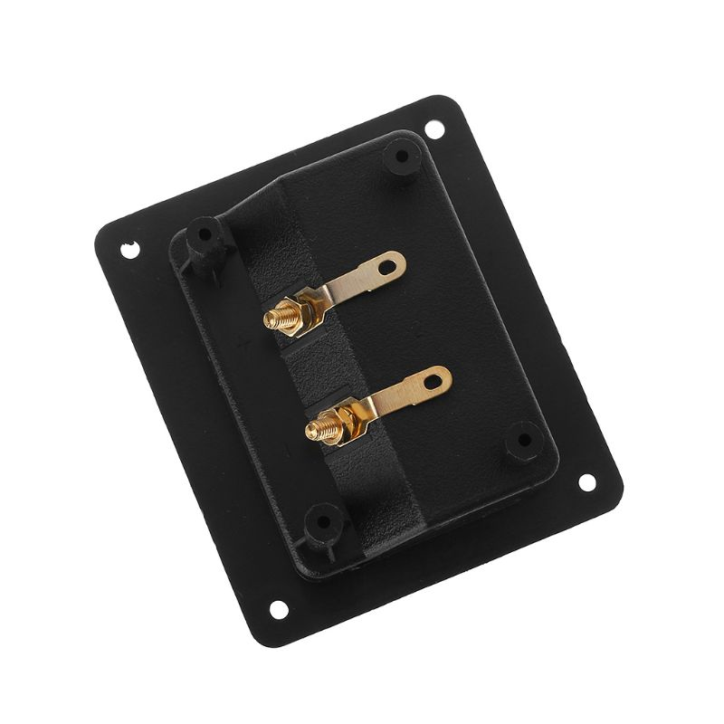 Gold Recessed 5-Way Banana Speaker Terminal Rectangle