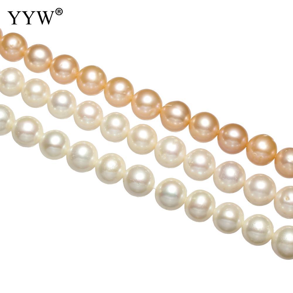 Perles de culture Baroque d'eau douce perles naturelles 9-10mm 10-11mm environ 0.8mm bijoux cadeau 2018 perles