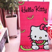 1PC 140*70cm Cartoon Kawaii Hello Kitty Travel Swim Spa Beach Bath Towel Bathroom ShowerTowel Gift Kids Children Birthday Gift