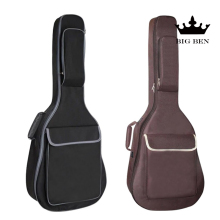 36inch cotton wooden guitar bag ballad black classic travel case shoulder strap backpack