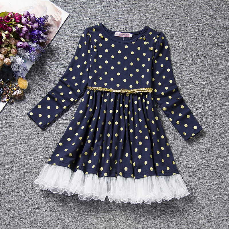 Long Sleeve Baby Girl Clothing Baby Kids Casual Clothes Infant Dresses for Baby Toddler Princess Girls Dress Vestido Infantil europe kids 2018 autumn winter girls dress long sleeve dot christmas princess dresses elsa vestido infantil dress girl clothes