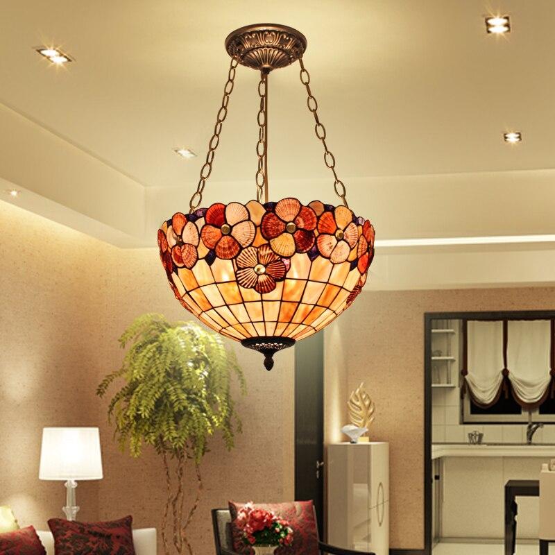 Single head home garden lighting lamp lighting lamp bedroom study Yang dining-room lamp shell garden lamp цена 2017