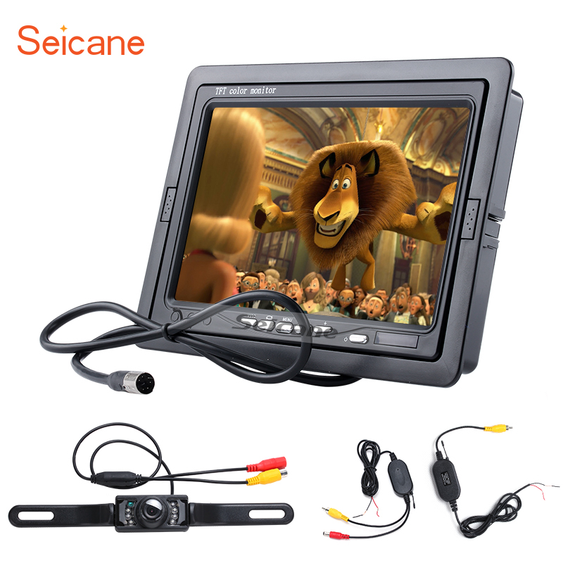 Seicane Universal 7 inch HD 1024*600 Digital Video Recoder DVR Reverse System Car Auto Parking Monitor Backup Rearview Camera