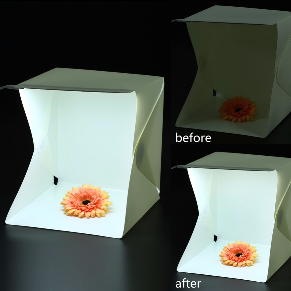 Hot All in one Portable Mini Foldable Photo Studio Box built in Light Photography Backdrop Box