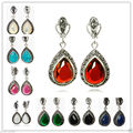 "8 opções de 925 de prata jóias & Marcasite Waterdrop brincos 1 1/2 """