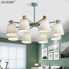 Nouveauté LED lustres pour salon chambre couleurs abat-jour Style nordique lampes suspendues Para Sala De Jantar maison lampe
