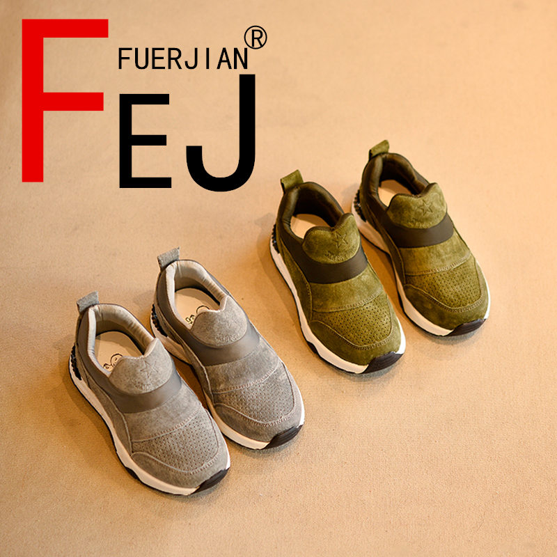 Kids Shoes 2017 FUERJIAN Spring New Breathable Running Shoes For Boys Girls Fashion Leather Casual Children Students Shoes 2017 new fashion kids leather sport shoes teenager breathable sneakers children shoes for girls boys non slip kids running shoes
