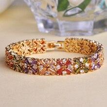 Gorgeous Fashion Mona Lisa Brazaletes Big Brand Shiny CZ Crystal Pulseiras Masculino Accessories Bracelets Men Jewelry Bijuteria
