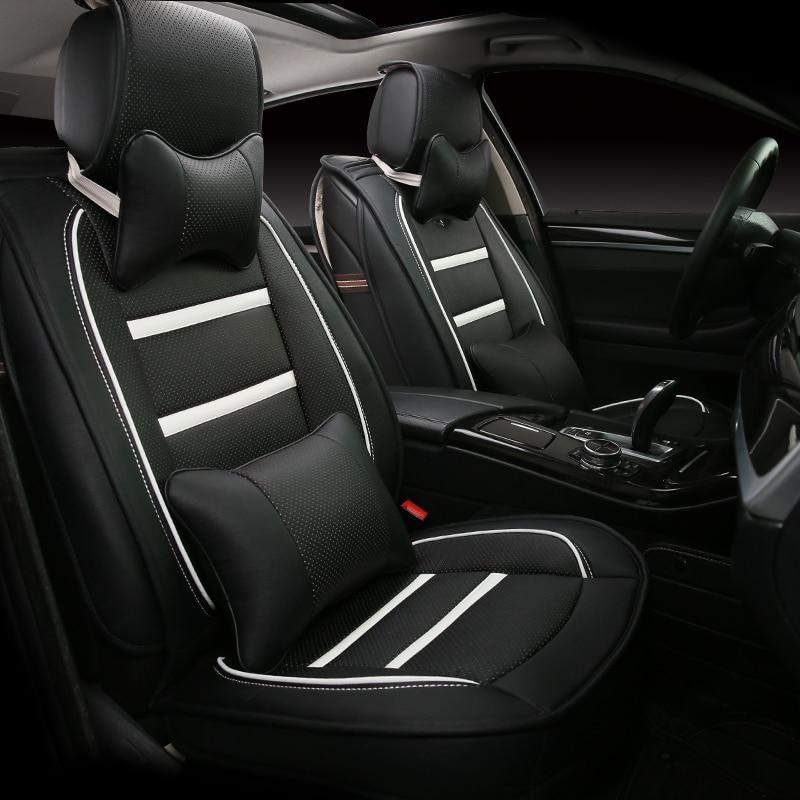 3D Styling Car Seat Cover For Honda Accord Civic CRV Crosstour Fit City HRV Vezel,High-fiber Leather, carbon fiber leather car remote key case chain keyless fob cover for honda civic 2017 accord fit crv cr v xrv crosstour hrv jazz