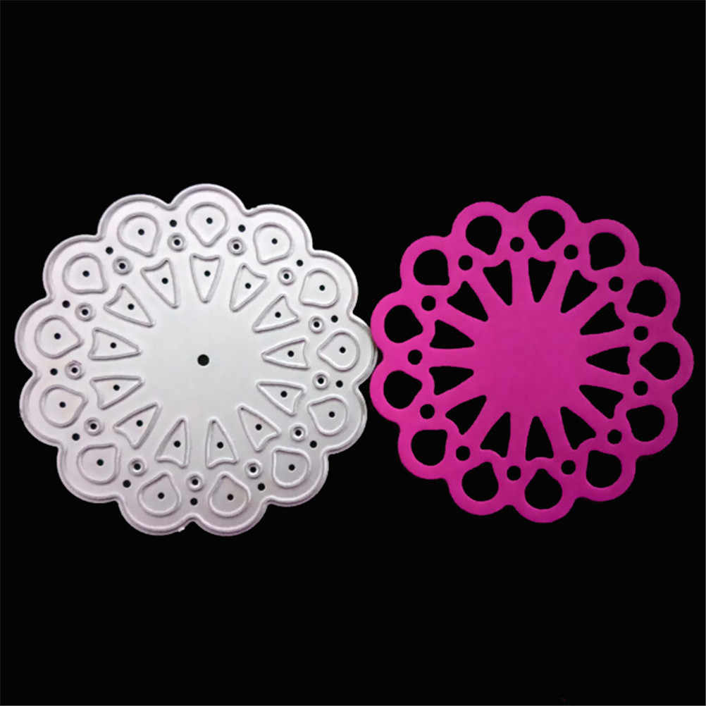 Flower Lace Frame baby dress Snowflake Metal Cutting Dies Stencils DIY Scrapbooking Card Album Photo Painting Template Craft 1pc