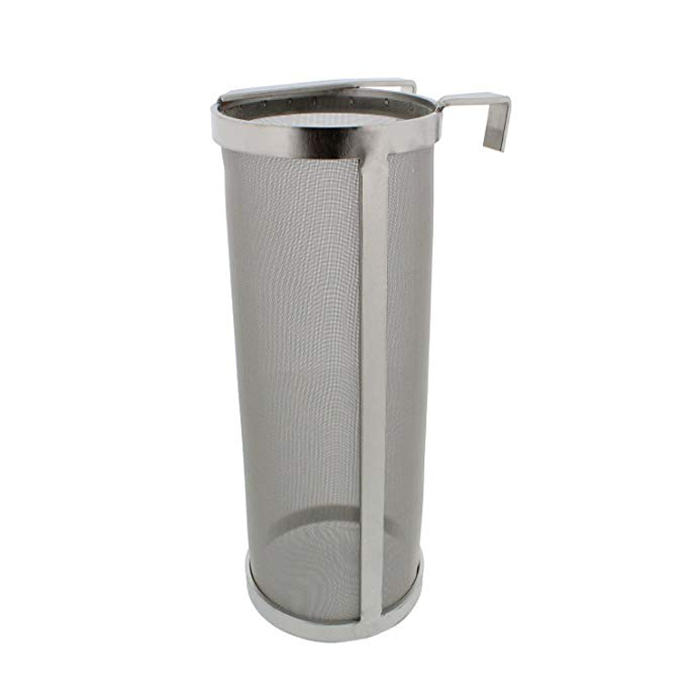 YUEWO Filter Brewing 4 X10 Inch Hopper Spider Strainer 304 Stainless Steel 300-400 Micron Mesh Homebrew Hops Beer Tea Kettle