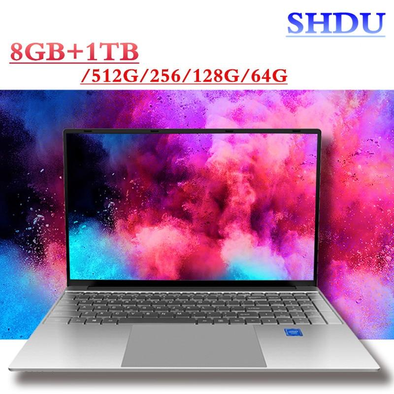 Core i3 ультра тонкий лаптоп 15,6 дюймов Экран 1920*1080 Дисплей пикселей 8 ГБ + 1 ТБ/512/256/128/64 жесткий диск игровой Тетрадь Windows10 ОС