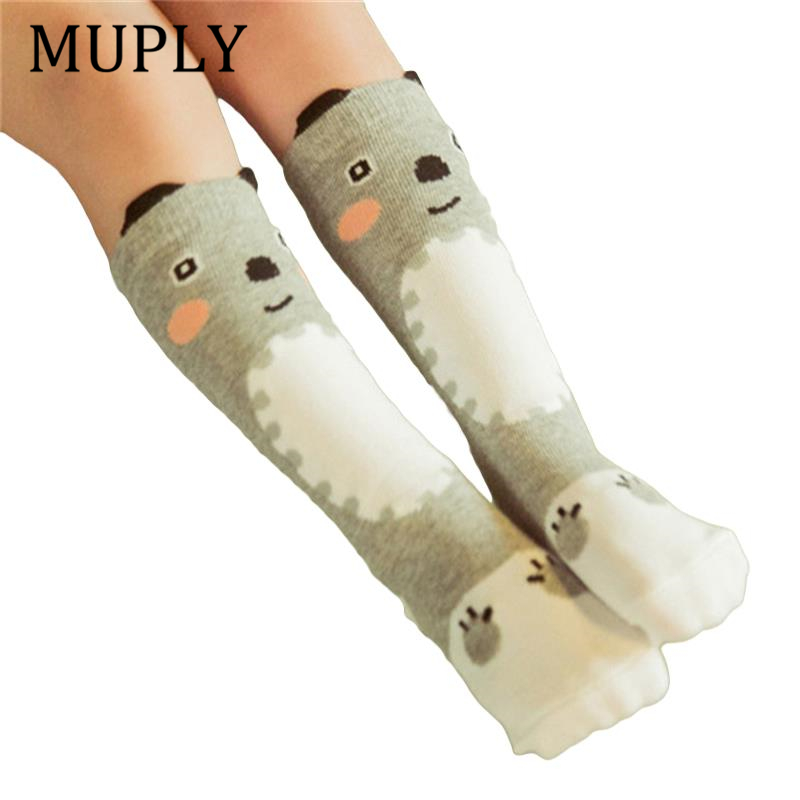 Spring Baby Kid Socks For Girls Newborn Toddler Knee High Lace Sock Long Girls Cute Leg Warmers For Newborns Infantile Fox Socks