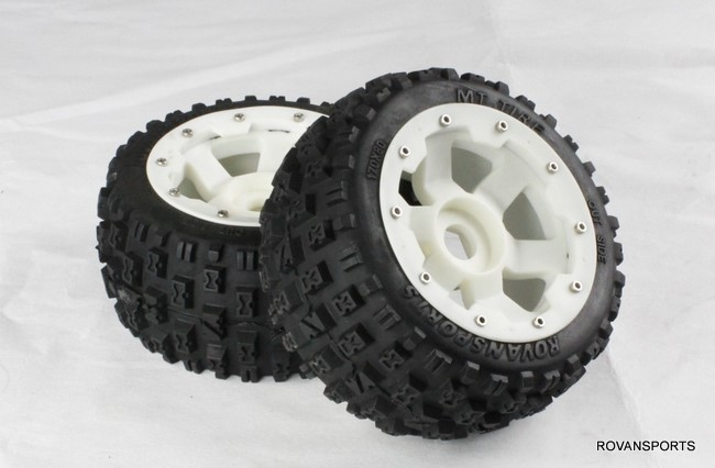 baja rear new  knobby tire set with high strength nylon hub  85074 baja front new  knobby tire set 85078