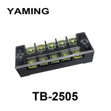 цена на 10pcs/lot TB-2505 25A 5 Position 600v terminal block TB Series fixing screw terminals barrier Strip Dual Row