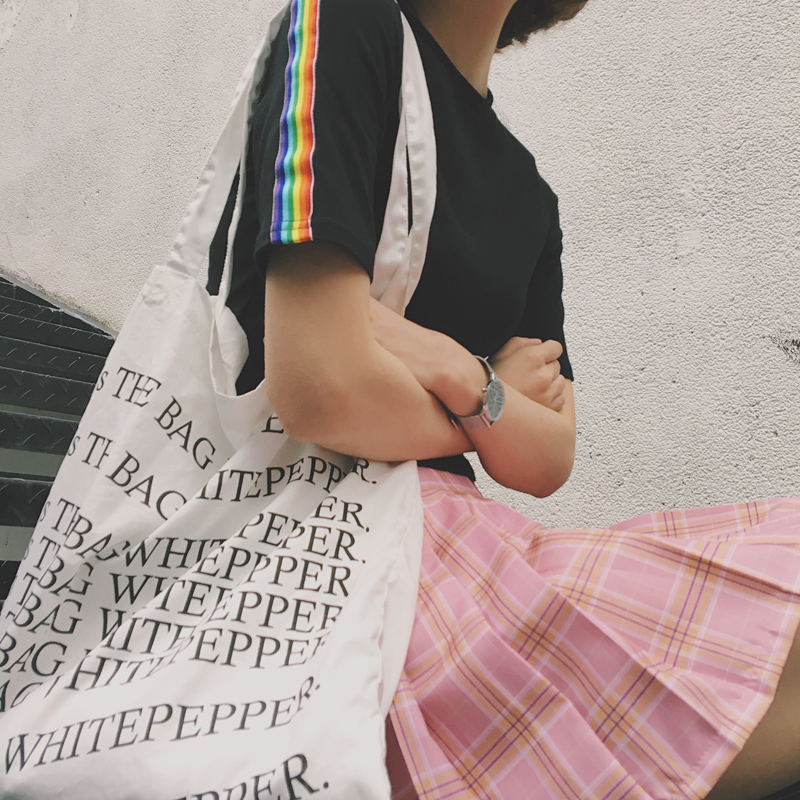 2017 Summer Short Design All Match Rainbow Printed Slim Fashion Short Sleeve Female T-shirts