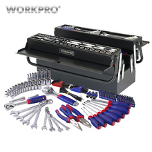 WORKPRO 183PC Repair Tool Set Homeowner s Tool Kit With 5 Compartment Cantilever Screwdriver Ratchet Wrench