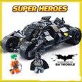 325 UNIDS Batman El Batimóvil Vaso Batwing Joker Marvel Super Heroes Bloques de Construcción Conjunto De Juguete Para Los Regalos de Navidad