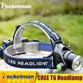 High Power CREE XML-T6 Led Headlamp 2000 Lumens Head lamp LED headlamp Headlight Waterproof Zoomable lampe frontale Headlight