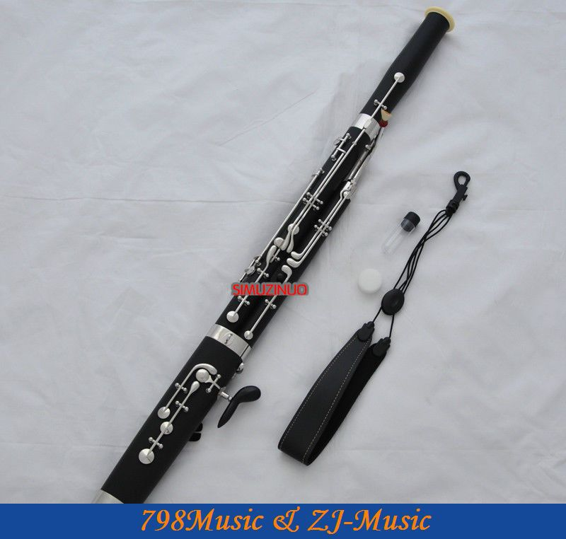 High Grade Bakelite Eb Bassoon cupronickel bocals Silver key New instrument Case new bassoon c tone great material than maple case bass oboe