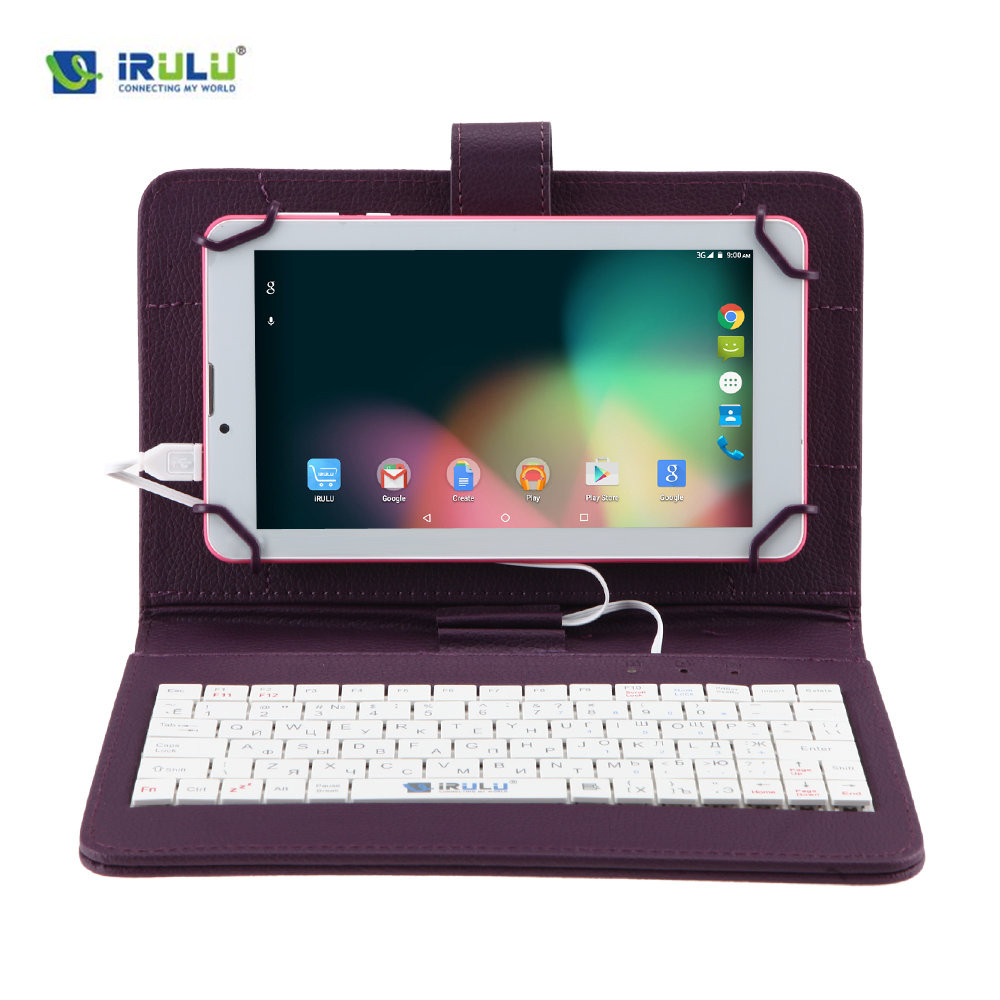 iRULU Original RUSSIAN Drop resistance KEYBOARD Case for 7Tablet PC Pad Leather Cover+Micro USB Keyboard For Russian People russian keyboard 10 inch tablet case for using russian language leather micro usb keyboard case to plate tablet device