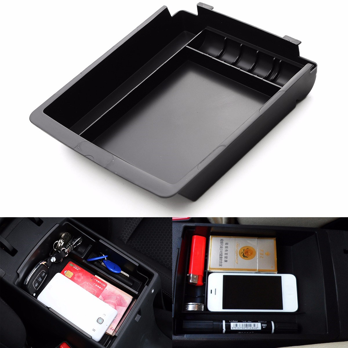 ABS Armrest Secondary Storage Box Center Console For HYUNDAI for ELANTRA 2011 2012 2013 2014 2015 187 x 165 x 35mm ветровики korea hyundai elantra 2013 avante md 2013