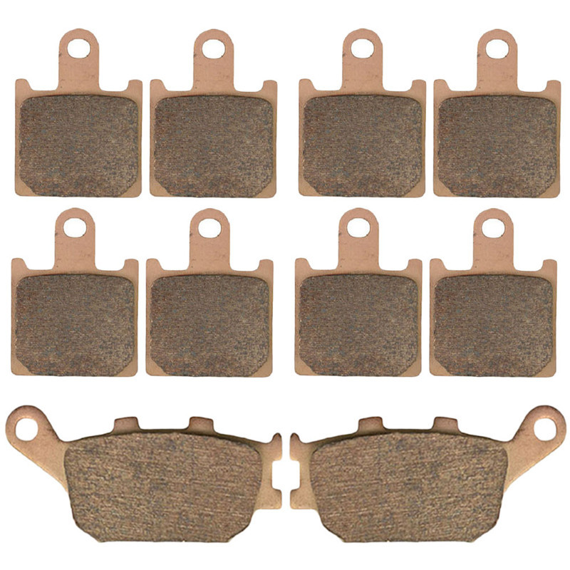 Motorcycle Parts Front & Rear Brake Pads Kit For KAWASAKI Z1000 ABS ZR1000 Z ZR 1000 C7F/C8F/C9F 2007-2009 Copper Based Sintered sintered copper motobike disks fa379 motorcycle brake pads for kawasaki z 1000 sx zr 1000 gbf 2011