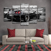 5 Pieces Modern Pictures Posters Art Abstract Original Super Sport Car series GTR Canvas Print Wall Art Home Decorative No Frame