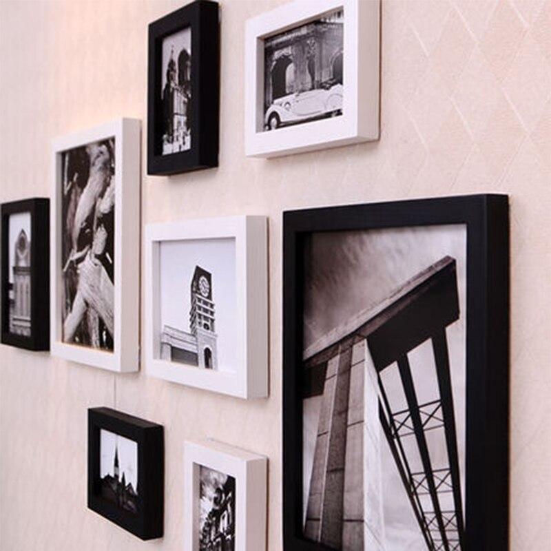 Marcos de fotos de madera maciza marco de fotos creativo fashionwall ...