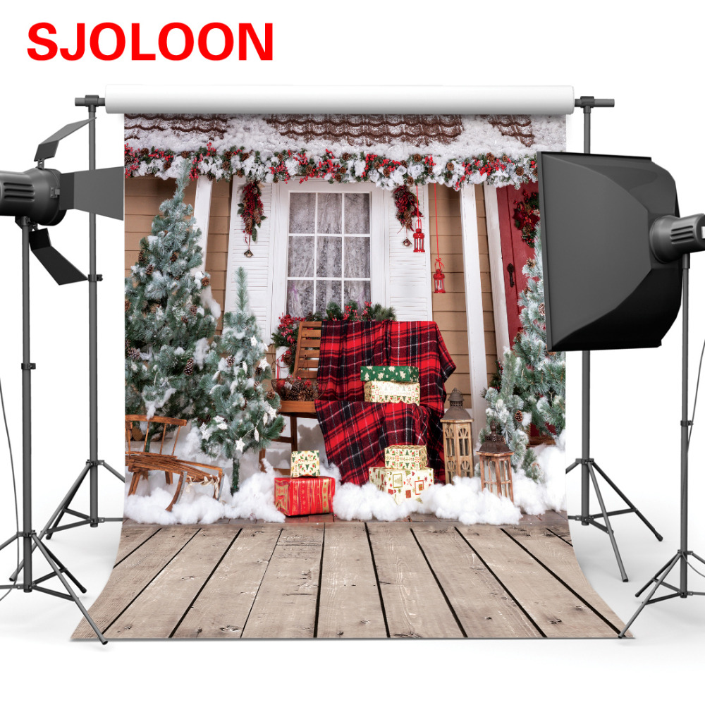 SJOLOON Christmas photography background baby photo backdrop family backdrop photo fond photo studio vinyl prop 5x7ft or 10x10ft sjoloon brick wall photo background photography backdrops fond children photo vinyl achtergronden voor photo studio props 8x8ft