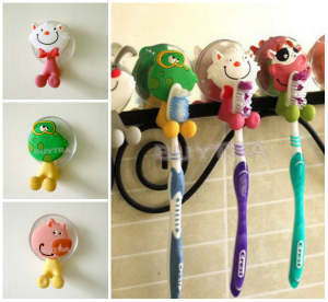 Toothbrush-Holder Sanitary-Ware-Accessories Bathroom-Product Mini Animal-Type Lovely