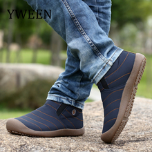 YWEEN New Mens Snow Boots Winter Keep Warm Cotton Shoes Unisex Casual Fashion Plush Male Boots Large size Shoes
