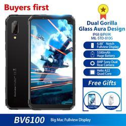 Blackview BV6100 смартфон с 5,5-дюймовым дисплеем, процессором MT6761, ОЗУ 3 ГБ, ПЗУ 16 Гб, Android 2019, 6,88 мАч