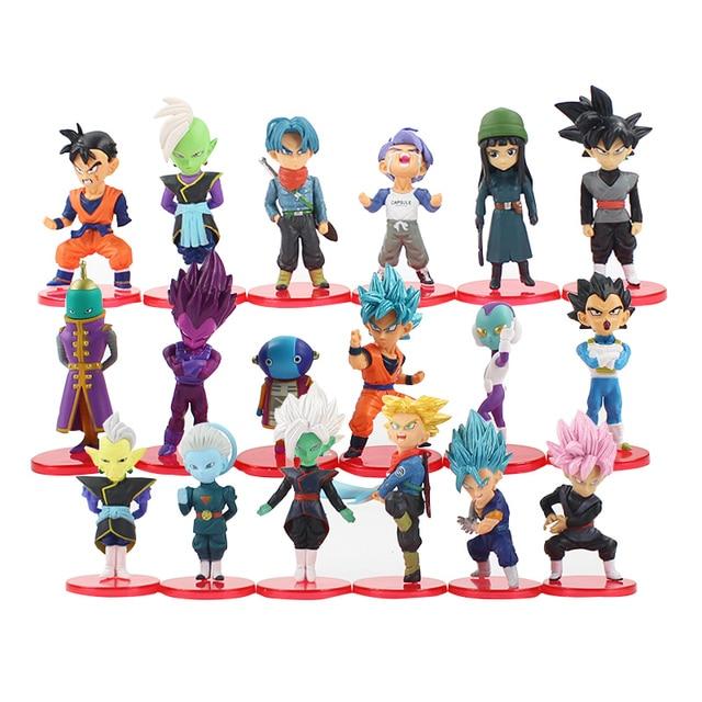 US $18 29 23% OFF|18pcs/set Dragon Ball Super Toys Son Goku/Gohan/Zen  O/Jaco/Trunks/Mai/Zamasu/Grand Priest/Vegeta PVC Collectible Figurines-in  Action