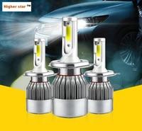 Higher Star Super Bright 2units 55W COB Led Car Headlights Chips Bulb High Low H1 H3