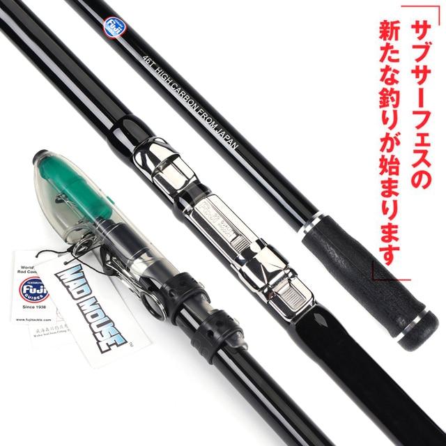 New MAD MOUSE Janpan Japan Full Fuji Surf Rod telescopic fishing rod Rock Star 4.2m 100-250g Long Casting Fishing Rod surf rod