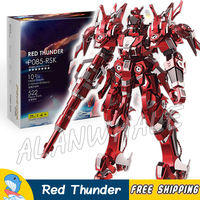 3D Metal Puzzle Super Heroes Red Thunder Mech Classic Metallic Gundam Robots Figures Model Assemble Teenagers Kits Toys Jigsaw