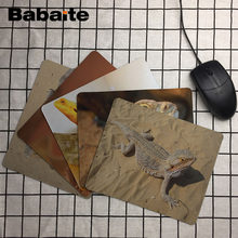 Babaite A Group of Brown Pogonas on Stone Animals Personal Made Silicon MousePad Your Own Style Gorgeous Black Fashion Mice Mats(China)