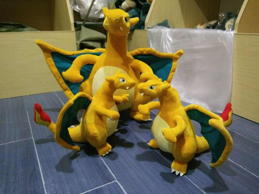 Charizard de pelúcia brinquedos boneca para presente das crianças do miúdo macio bonito do anime pikachu memórias de Infância fresco de alta qualidade Dragão brinquedo